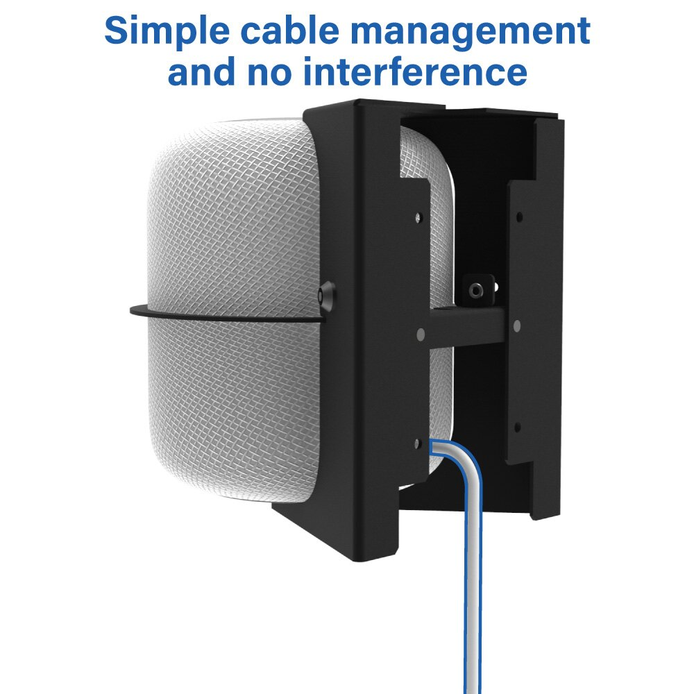 Secure HomeBase Wall Mount for Apple HomePod Cable Management