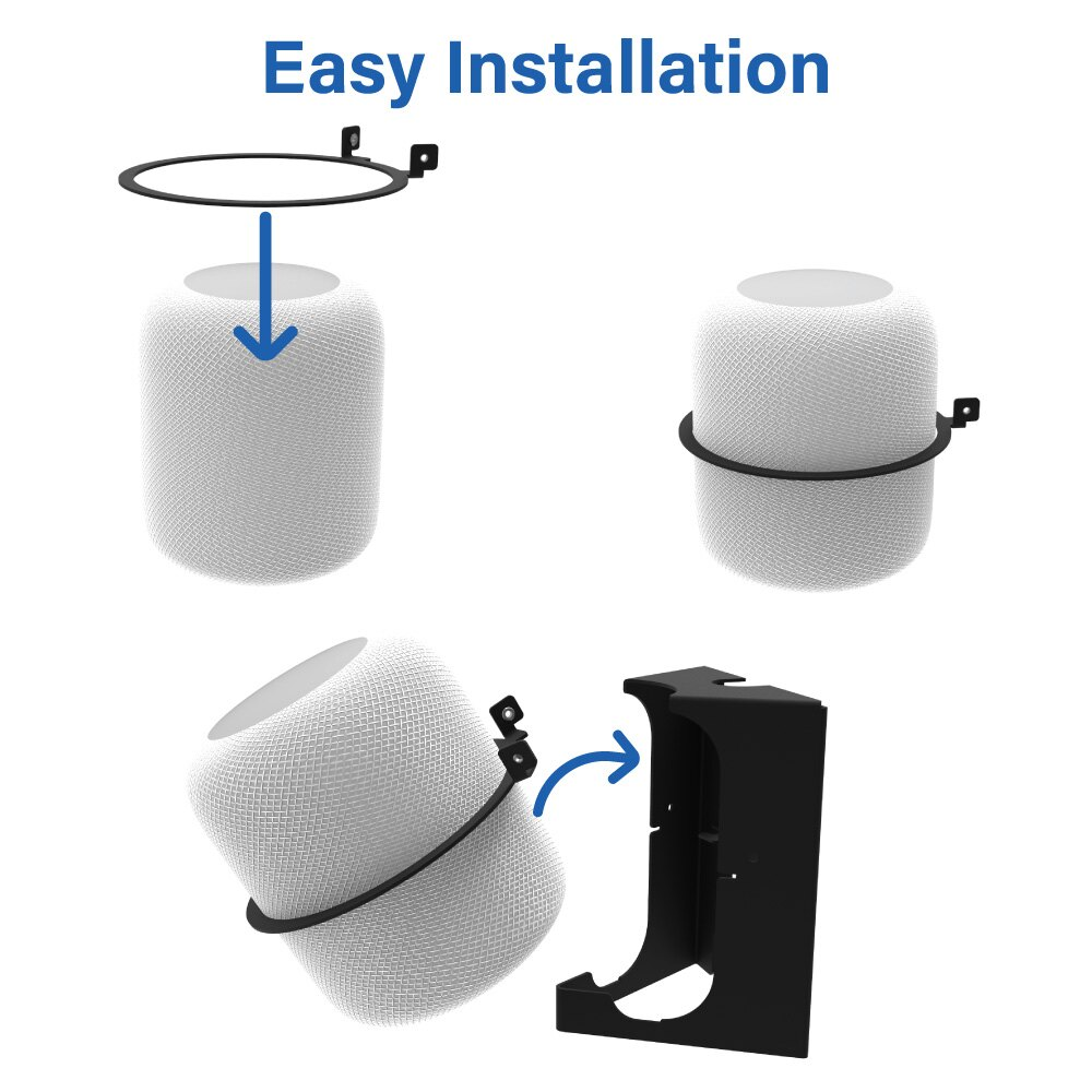 Secure HomeBase Wall Mount for Apple HomePod Easy Install