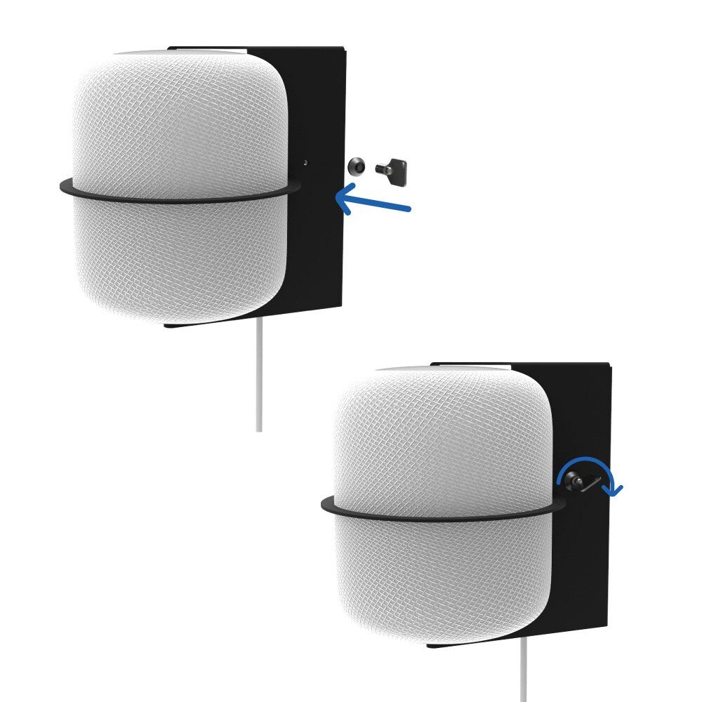 Secure HomeBase Wall Mount for Apple HomePod Locks in Place