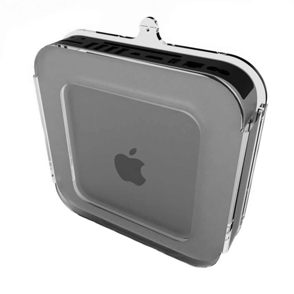 Mini mount Clear for Mac Mini (3rd and 4th Generation) Front View