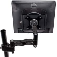 Mini Mount Secure For Mac Mini (3rd and 4th Gen) shown with monitor arms