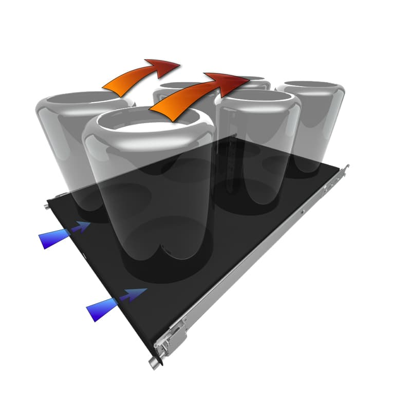 MP Rack 6U Shelf for Apple Mac Pro (2nd Generation) Ventilation